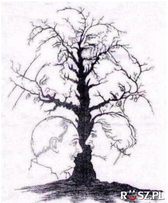 Ile twarzy znajduje się na rysunku ?
