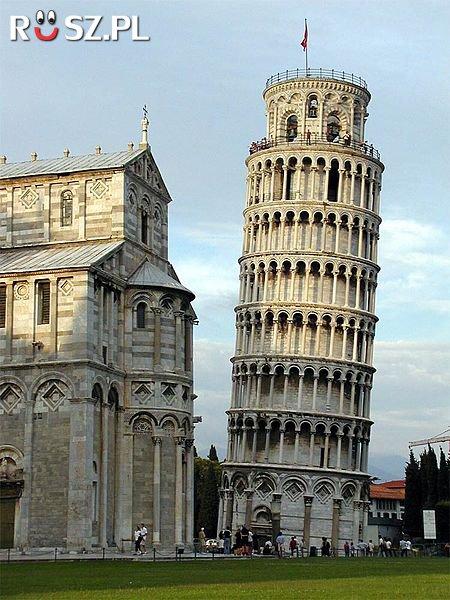 o ile metrów Wieża w Pizie odchylona jest od pionu?