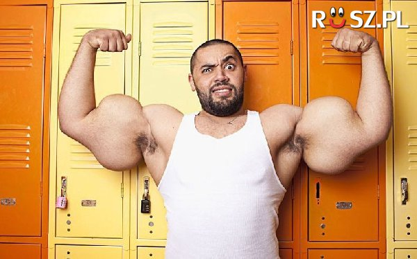 Ile mierzy napięty biceps tego gentlemana?