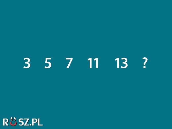 Jaka liczba będzie kolejna?